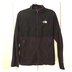 Black, North Face Fleece/Nylon Combination Jacket